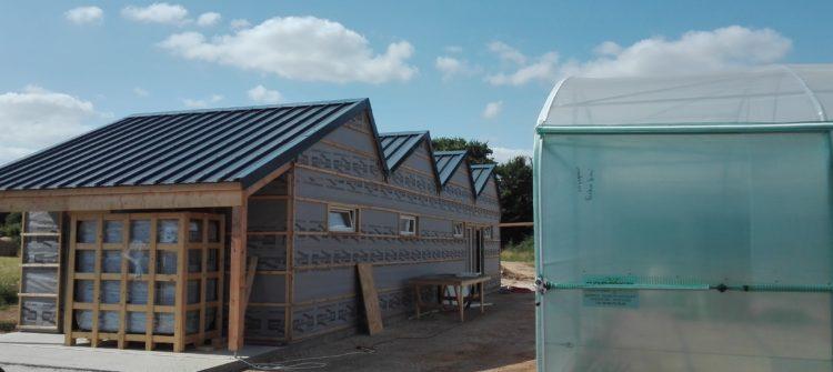 dernier pan de toit installé