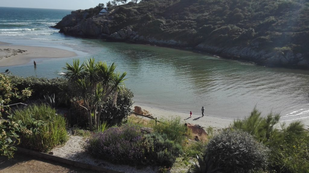 plage de Rospico à marée haute