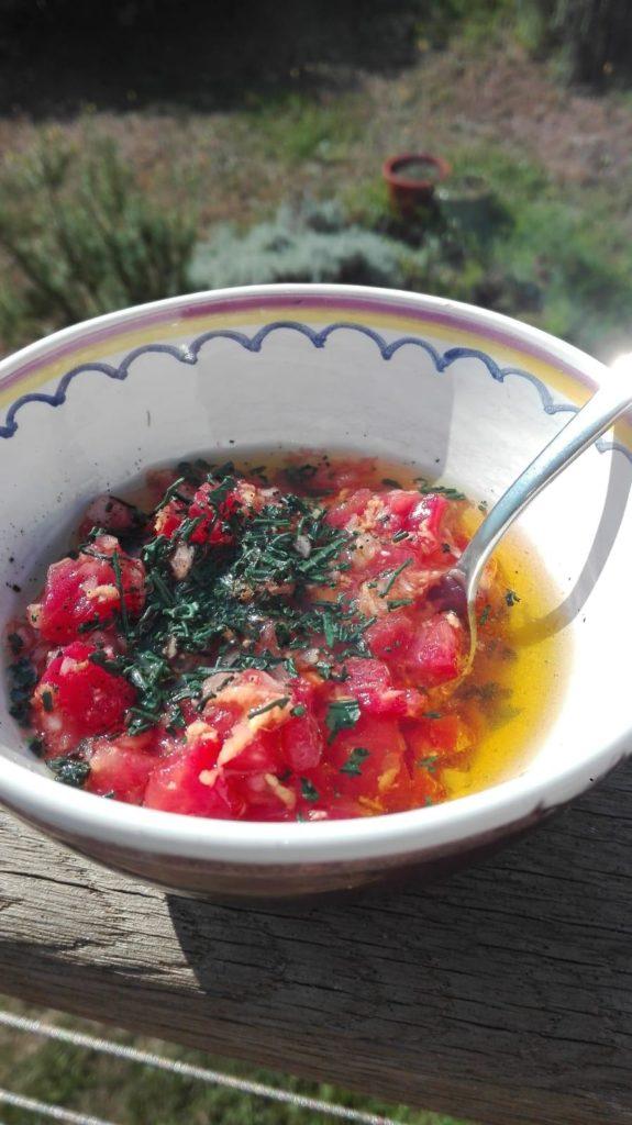 rougail tomate à la spiruline